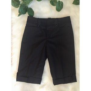 Kumikyoko Pinstripe Cuffed Bermuda Shorts